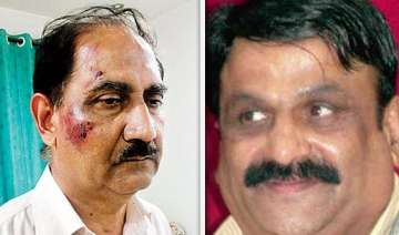 pune congress mla beats up retired iaf officer...