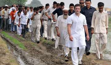 rahul continues footmarch in up bsp calls it...