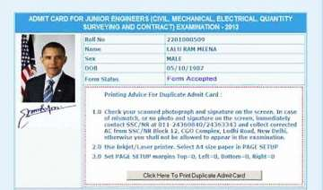 rajasthan man gets exam admit card with obama s...