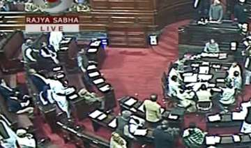 rajya sabha adjourned after uproar by bjp over...