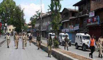 restrictions imposed in srinagar over quit...