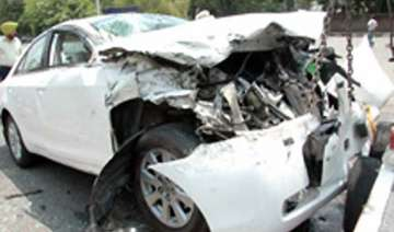 retd ias officer killed in collision with car...