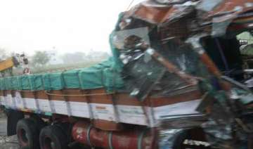 seven dead 14 injured as two trucks collide in up...