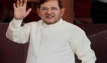 sharad yadav elected unopposed to rajya sabha...