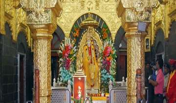 shirdi s sai baba temple gets rs 3.44 cr donation...