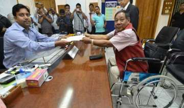 six including p.a. sangma file nominations in...