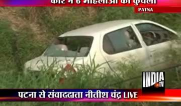 six women crushed to death by car driver in patna...