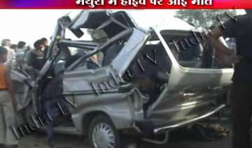 six killed as maruti van rams into truck near...