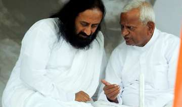 sri sri ravi shankar requests anna to end fast -...