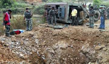 suspected maoists blow up house torch vehicles -...