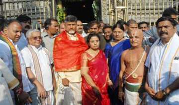 tdp chief offers prayers at shrine of lord...