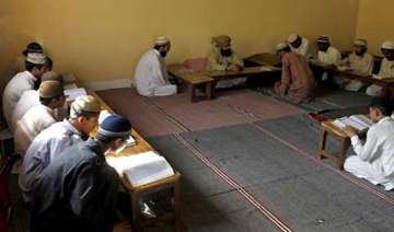 tension after 4 darul uloom students beaten up...