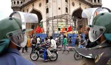 tension in old hyderabad over temple mim...