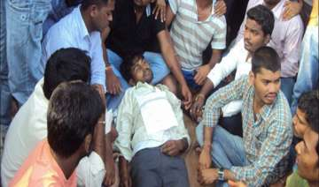tension in osmania university following student s...