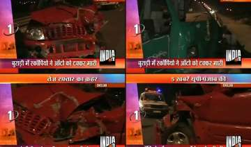 three injured in delhi car racing - India TV