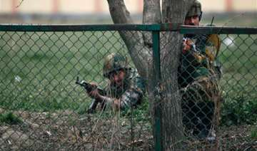 two jawans injured in gun battle with militants...