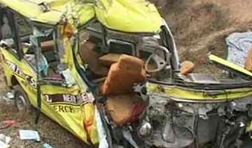 two killed 20 injured as school bus hits another...