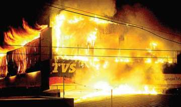 two wheeler showroom gutted in fire - India TV