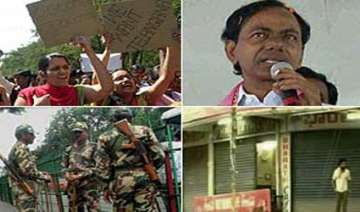 telangana observes bandh minor clashes in osmania...