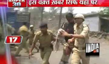 three persons killed in clash curfew imposed in...