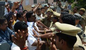 united ap supporters forcibly close banks post...