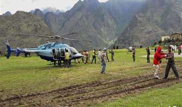 uttarakhand babus policemen vanish in chopper...