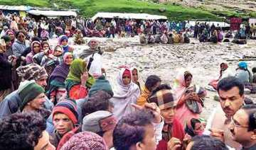 uttarakhand 58 survivors from hemkunt sahib reach...