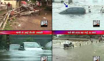 widespread floods in maharashtra 30 cars...