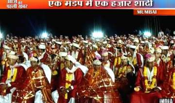1 015 couples wed in mass marriage in virar...