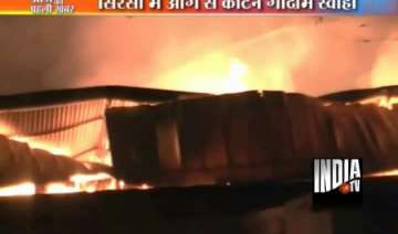 15 000 cotton bales gutted in sirsa fire - India...