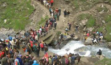 12th batch of pilgrims leaves for amaranath from...