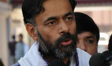 aap s yogendra yadav has two acres land rs.2 000...