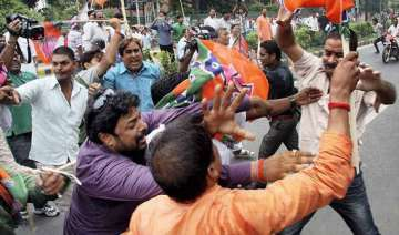 bjp jd u workers clash during bihar bandh - India...