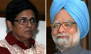 bedi attacks pm bjp supports team anna while...