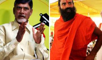 chandrababu pledges support to ramdev to fight...