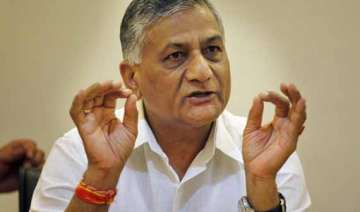 congress attacks bjp for continuing with gen v k...