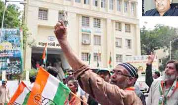 congress wins maiden gandhinagar civic poll -...