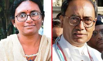 digvijay calls female mp tunch maal bjp calls him...