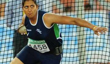 discus thrower krishna poonia joins congress in...