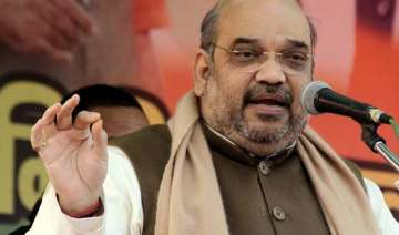 bjp not on back foot on temple issue says amit...