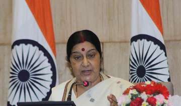 sushma swaraj meets families of 40 indians held...
