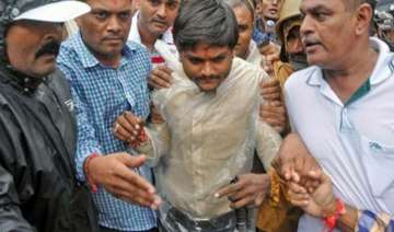 hardik patel in detention protests at few places...