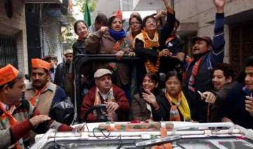 delhi polls kiran bedi campaigns in south delhi...