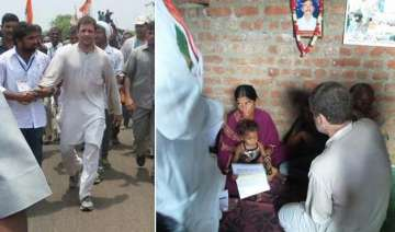 rahul gandhi consoles families of farmers who...