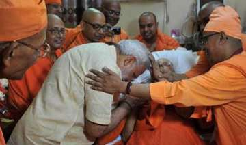 pm modi turns emotional as he visits belurmath -...