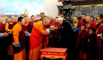 pm modi in mongolia visits ancient monastery...