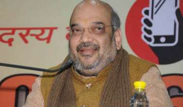 amit shah holds brainstorming session with first...