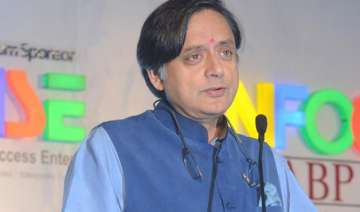 tharoor supports harsh vardhan s pythagoras...
