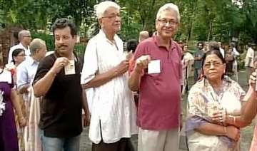 local body polls underway in bengal - India TV