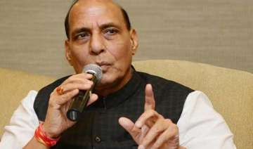 rajnath gets stuck in lift scales wall to be out...